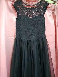 Little Black Dress with Lace Details