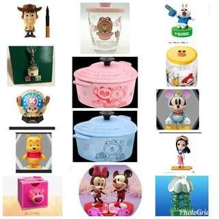 7-11 玩具 模型 擺設 Sanrio Disney Line (Total : 30pcs)