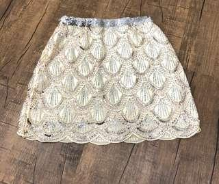 Hervelvetvase sequin skirt