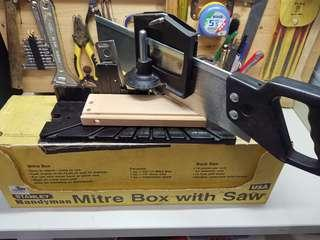 Stanley handyman mitre box with saw With Original Box•Stanley•Handyman•Mitre Box w/ Saw