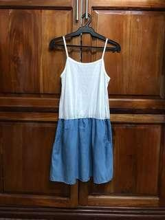 Chambray Dress with Pockets