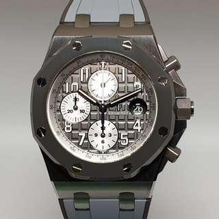"""Audemars Piguet Royal Oak Offshore Chronograph """"Ghost"""" in Titanium & Ceramic 42mm BNIB (Restock)"""