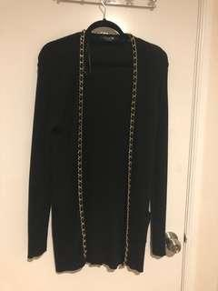 Forever 21 Black Chain Cardigan (M)