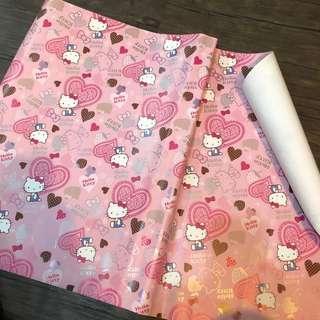 Hello Kitty 花紙五張