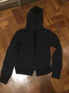 Uniqlo Grey Black Striped Jacket Outerwear Jumper