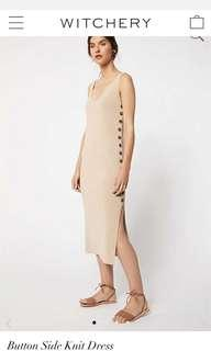 RRP $149.95 Witchery Button Side Knit Dress