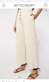 RRP$149.95 Witchery Linen High Waisted Button Pants