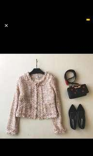 Knitted Feminine Tweed Jacket Coat Women