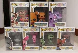 Funko PoP - Winnie the Pooh - Set of 7 (With Box Protector)
