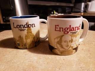 Starbucks Espresso Cups London England