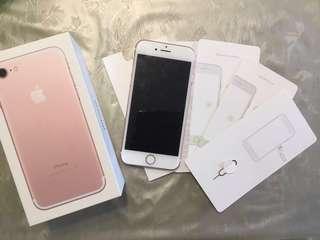 Pristine Iphone 7 256GB Rose Gold - Full Singtel SET Mint