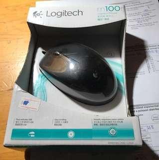 Logitech m100r  有線滑鼠
