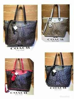 Coach Pleated Tote Bag