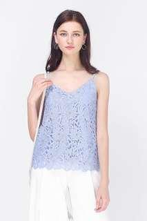 🚚 *CLEARANCE* Fayth Nicola Crochet Cami Top in Pastel Periwinkle Size S