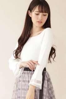 ✨HIT!超美~日本19 jill 貴牌喇叭長袖方領上衣