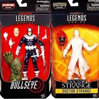 MISB Marvel Legends Daredevil Bullseye, Astral Doctor Strange With Man-Thing Dormammu Baf