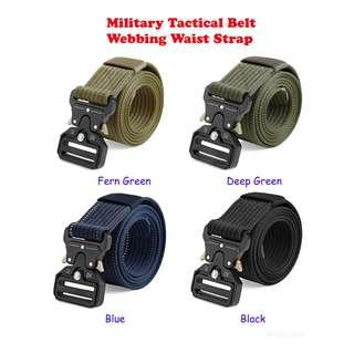 💯 Men Military Tactical Belt Webbing Waist Strap with Quick Release Buckle