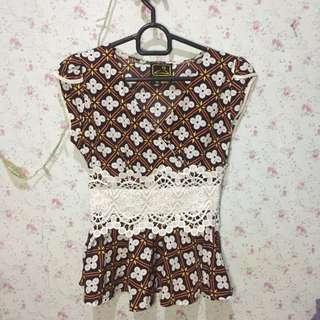 Batik Korean Brukat Top
