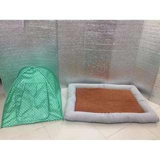 Brand new medium pet bed and outdoor tent