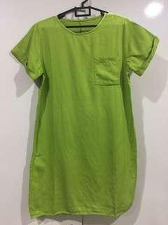 Long Green Top / atasan panjang hijau