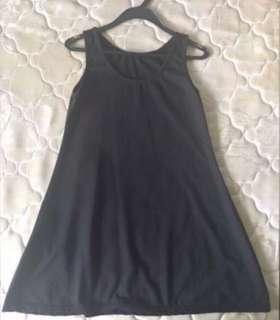 Korean Ulzzang Black Midi Dress