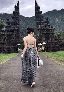Forever 21 beach bareback maxi dress