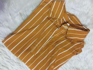 Wash but never worn (mustard) super nice! button down polo