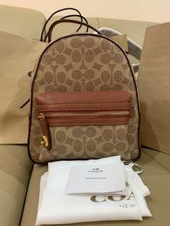 Ready Stock Authentic coach campus mini backpack 32715