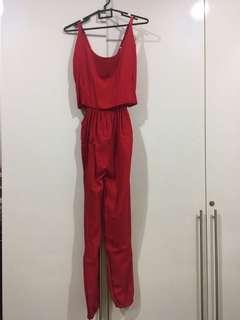 Red Jumpsuit / jumpsuit merah