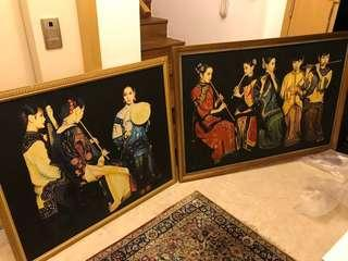 Chinese oil painting 人物油画 - 2 pieces