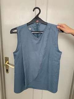 Sample sale blue top baju biru