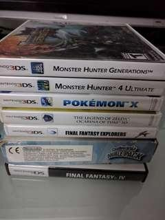 WTS GBA DS and 3DS games
