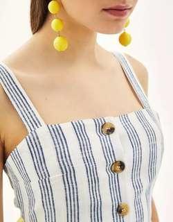 Zara inspired linen crop top