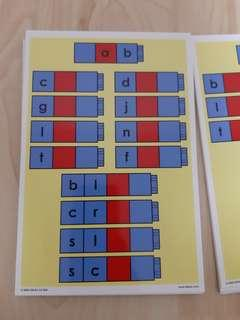Unifix word families cards to be used with unifix cubes