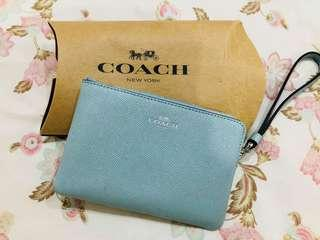 Coach Leather Glitter Pouch