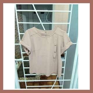 Preloved baju kemeja dress blouse wanita cewek pastel simpel murah korean vintage bohemian casual formal kerja kantor