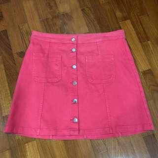 🚚 H&M - Pink Denim Skirt