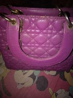 DIOR bag purple