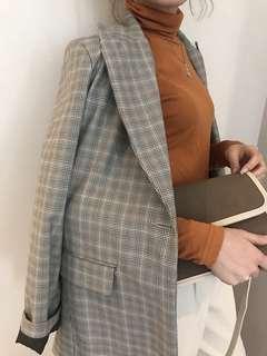 🚚 轉賣 Hachu 正韓 格紋西裝外套 格子外套