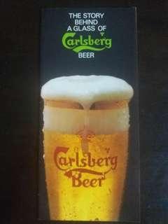 70 s vintage Carlsberg beer brochure