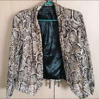 ZARA Snake Print Blazer