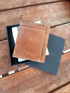 Travelambo RFID Front Pocket Minimalist Slim Wallet (Unisex) Vintage Brown Leather