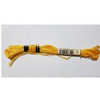 DMC Thread No. 743 -  Yellow - MED Color (Used)