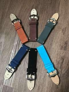 22mm watch strap leather
