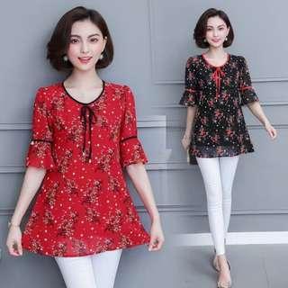 🚚 [XL - 5XL] Plus Size Korean Blouse (Pre Order)