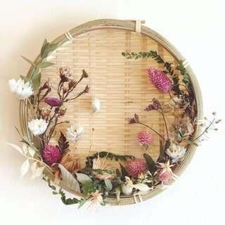 Dried flower and Preserved Flower Bamboo Decor