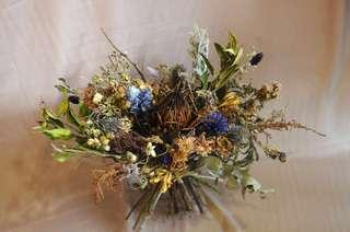Artistic Dried and Preserved Flower Bouquet
