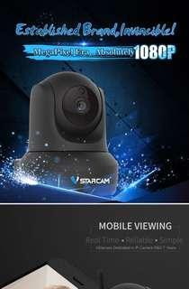 VSTARCAM C29S 智能高清1080p網絡攝像頭360旋轉手機wifi家用夜視監控器 1080P 送16gb存儲雙向語音自錄像
