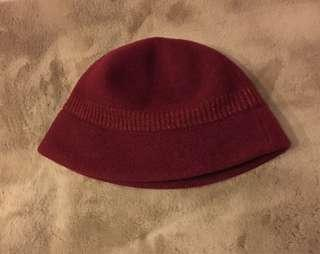 🚚 暗紅保暖帽子❤️