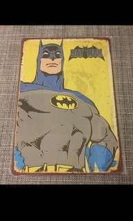 🚚 Sale 🌟 BN Batman cartoon tin metal plate signage 20x30cm